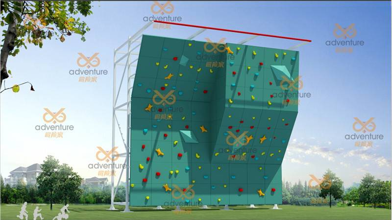 colorful rock climbing wall
