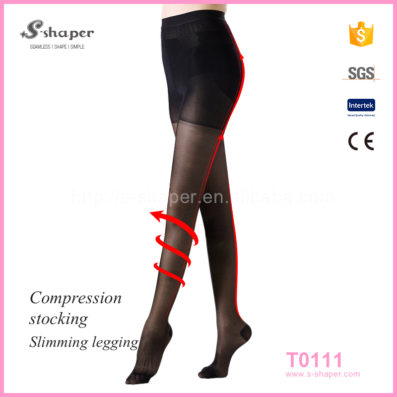 S - SHAPER Sample Pantyhose Free See Through Compression Tights