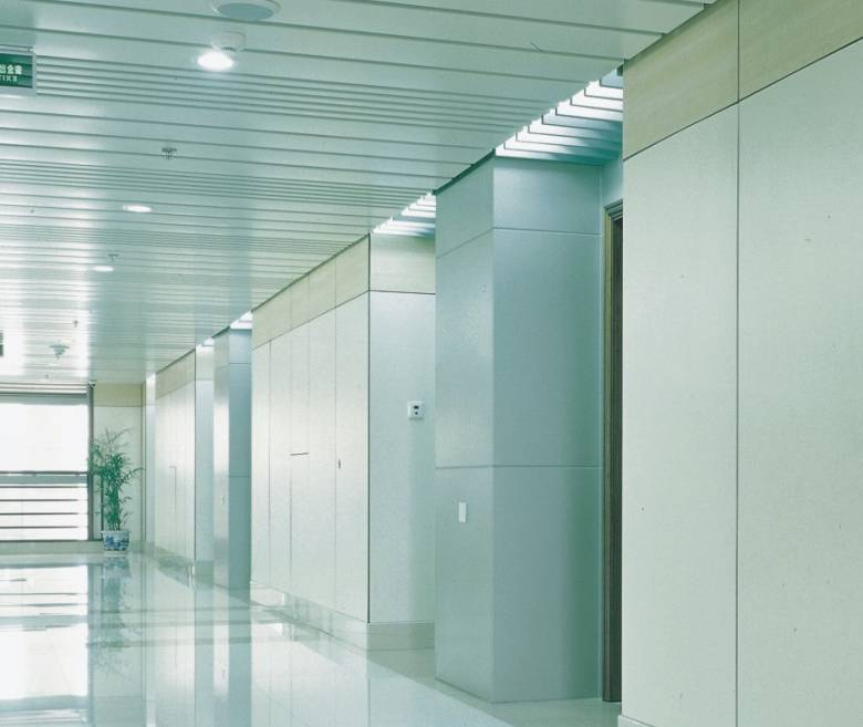 2 hours fire resistance steel profile office partition wall