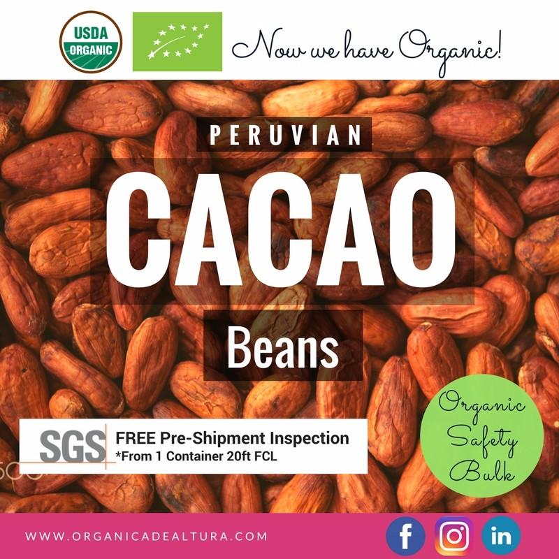 Raw Organic Cacao Nibs / Cacao Beans Peru