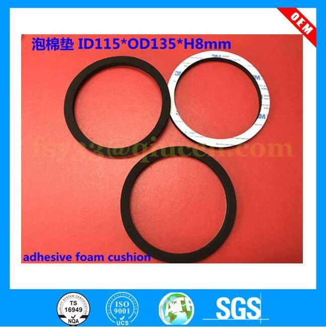 Custom die cutting and back adhesive close cell SBR Neoprene Epdm Nbr Eva foam pad