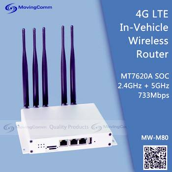 733Mbps Industrial Grade 4G LTE Dual Band Bus Wireless Router