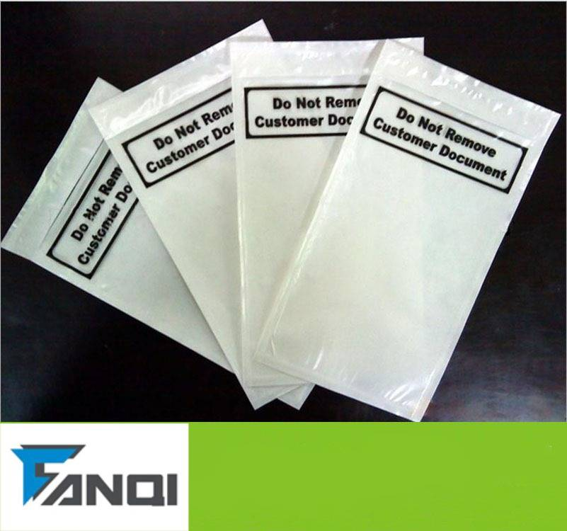 Self-adhesive Packing list envelope / mailing bags / plastic poly bags
