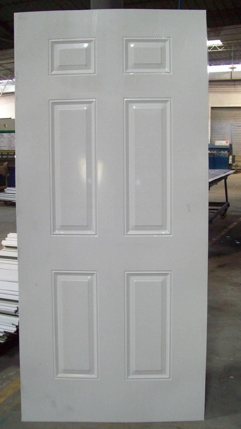 Galvanized steel door skin
