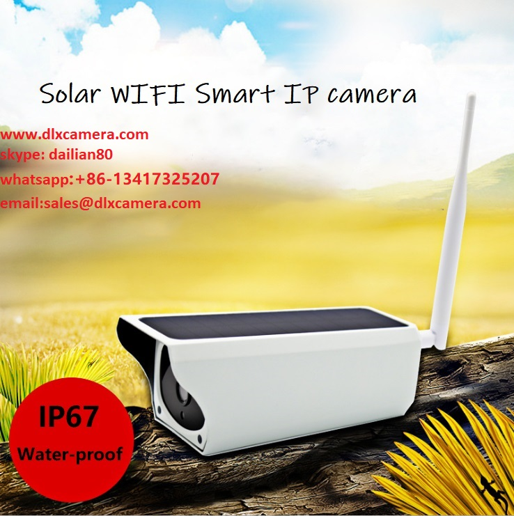 1920X1080p 2MP Solar Wireless 64G SD IP Camera with Two Ways Audio and APP