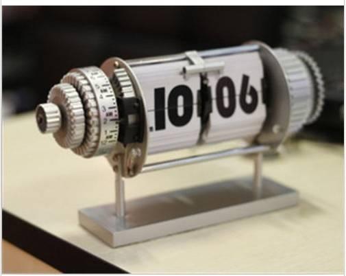 Retro Electro-Mechanical Auto Flip Page Clock Vintage Gear Desk Table Alarm w/2