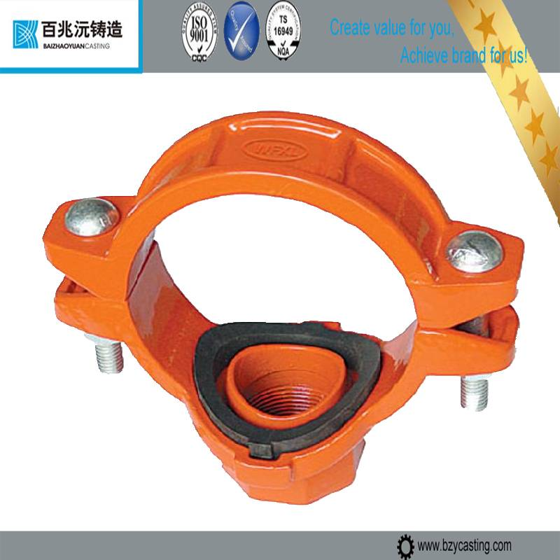 Ductile Iron Threaded Mechanical reducing Tee