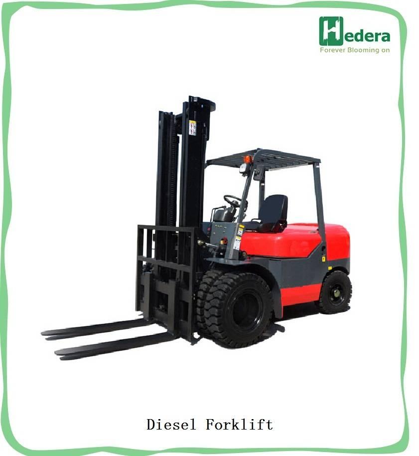 5 ton capacity diesel forkllift,big capacity forklift diesel 5000kg