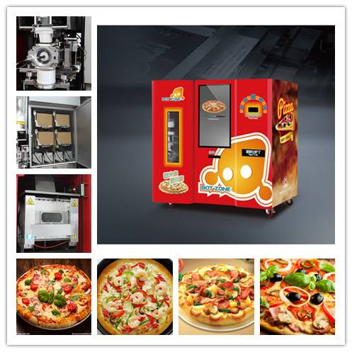Convenient and efficient pizza vending machine for commercial use