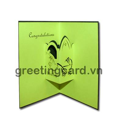 Valley boy 3D pop up greeting card