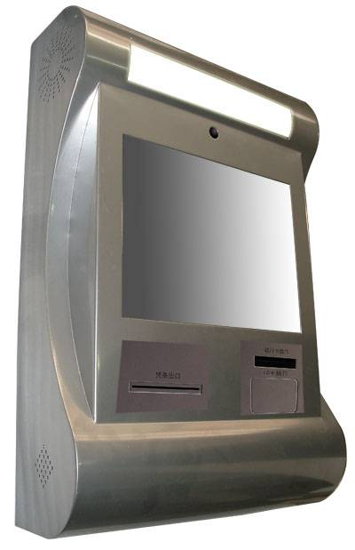 J11 all stainless steel wall-mounted waterproof selfservice touchscreen payment kiosk with RFID ther