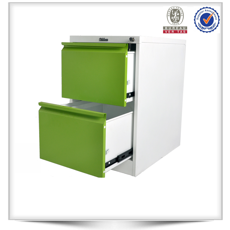 Mini style portable detachable 2 drawer steel filing cabinet