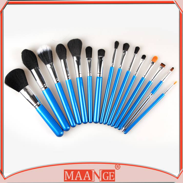 MAANGE Multi-talented Cosmetic Tools 15pcs makeup brush set with soft hair
