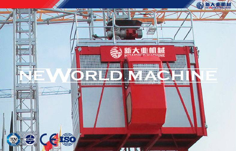 CE ISO SC200 Red Cage Hoist High Speed With Low Noise , 2 Ton