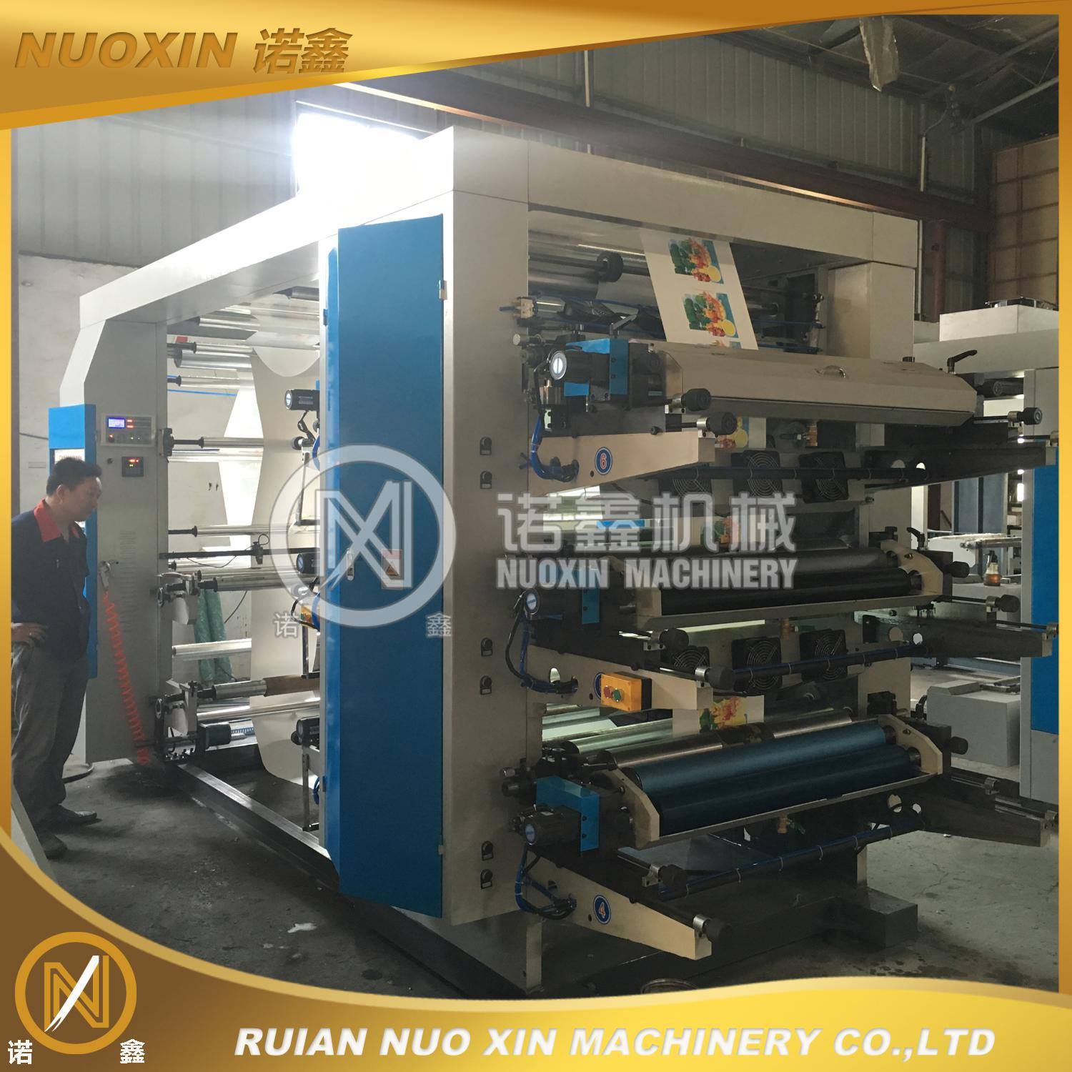 NX-6800 6 Color High Speed Plastic Film Flexographic Printing Machine