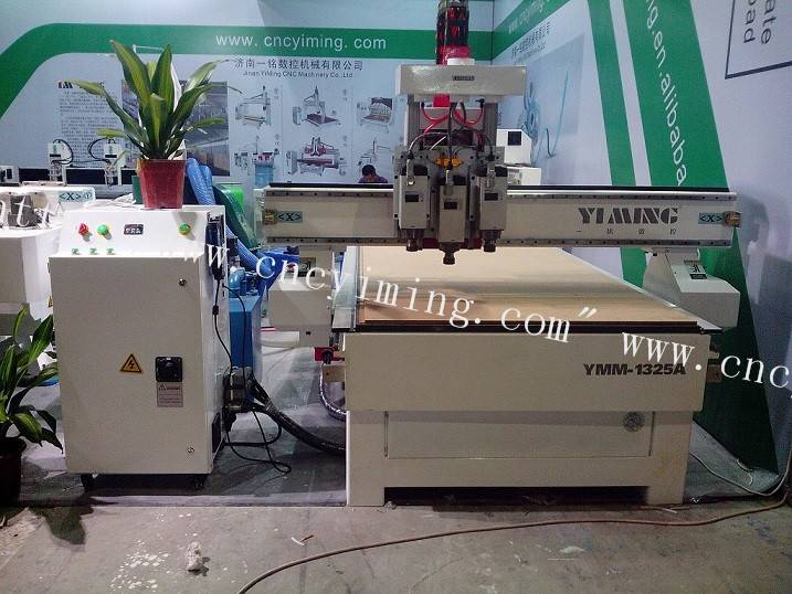 wood cnc router with three process 1325
