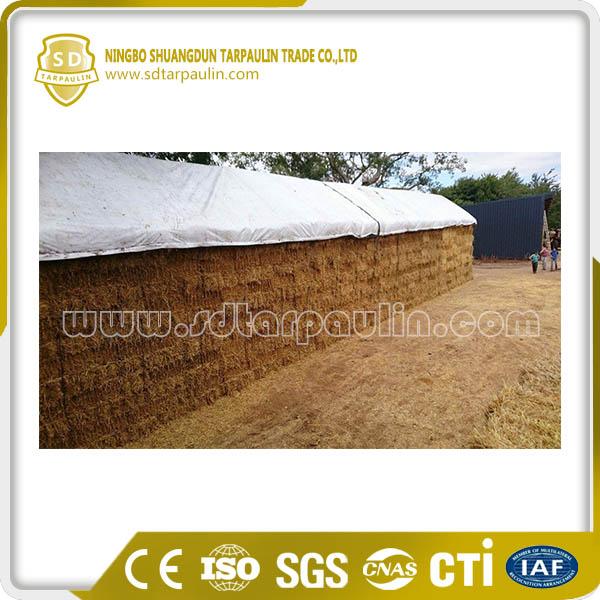 White PVC Tarpaulin Hay Cover Tarp