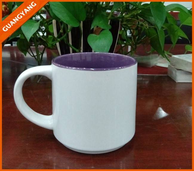 14oz round shape glazed ceramic starbuck mug