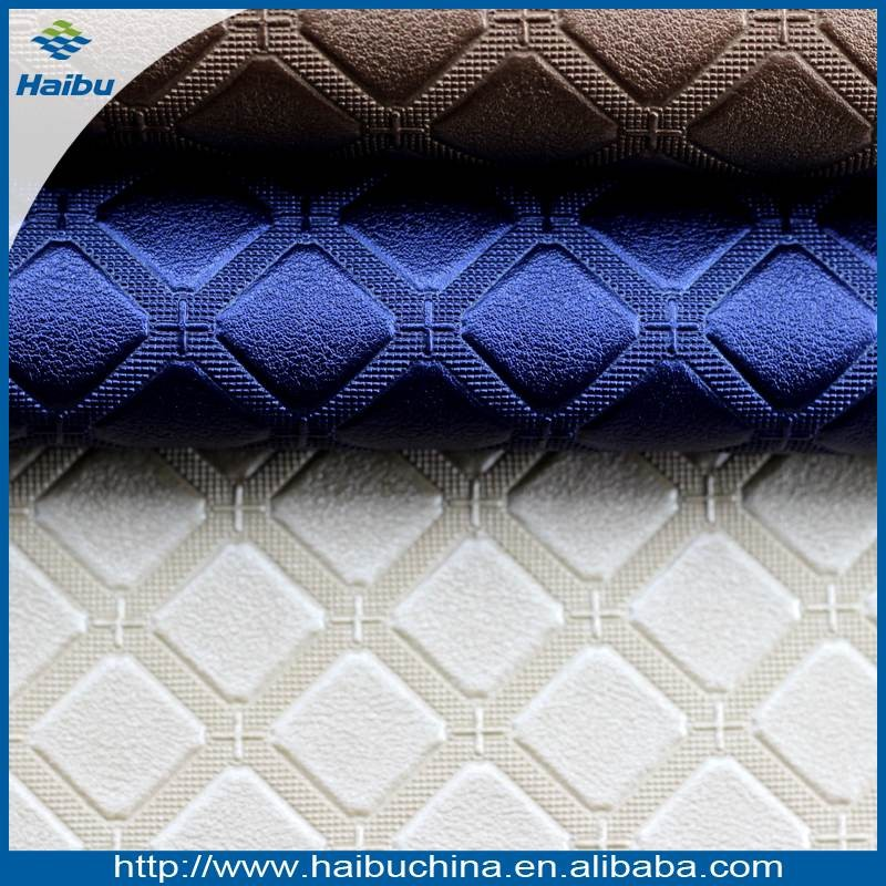 Rhombus Pattern PVC Rexine Leather Bag