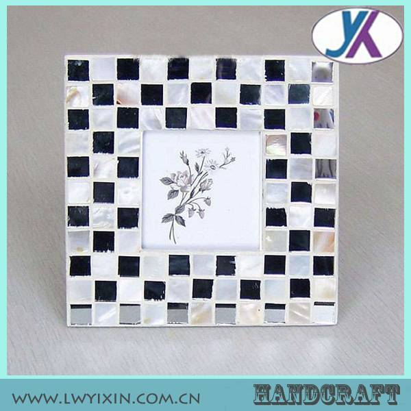$1 dollar 5''X7'' beveled mosaic glass picture mdf photo frame