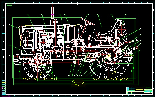 25-35,35-50Horsepower Tractor Blueprint Drawing