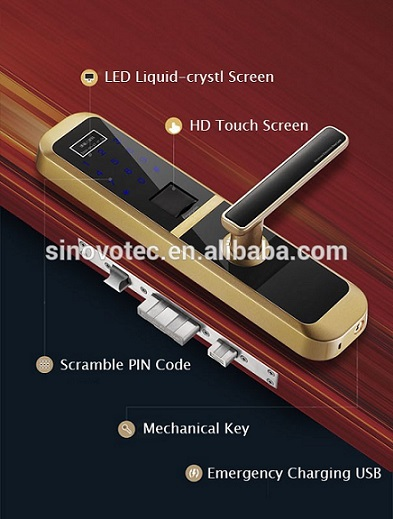 Smart Card Electronic lock Password Keyless Digital Locks Fingerprint Door Lock