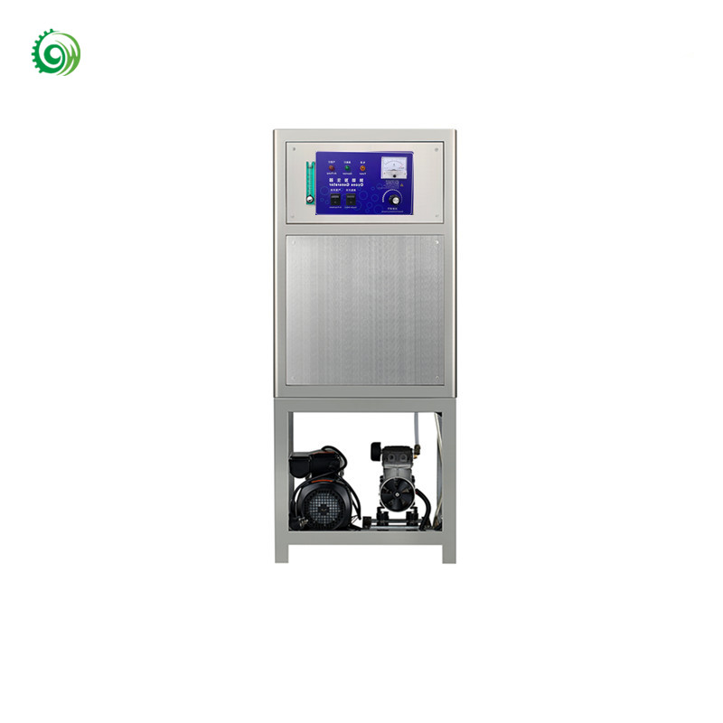 Hot air and water treatment with mixing pump ozone generator 10g