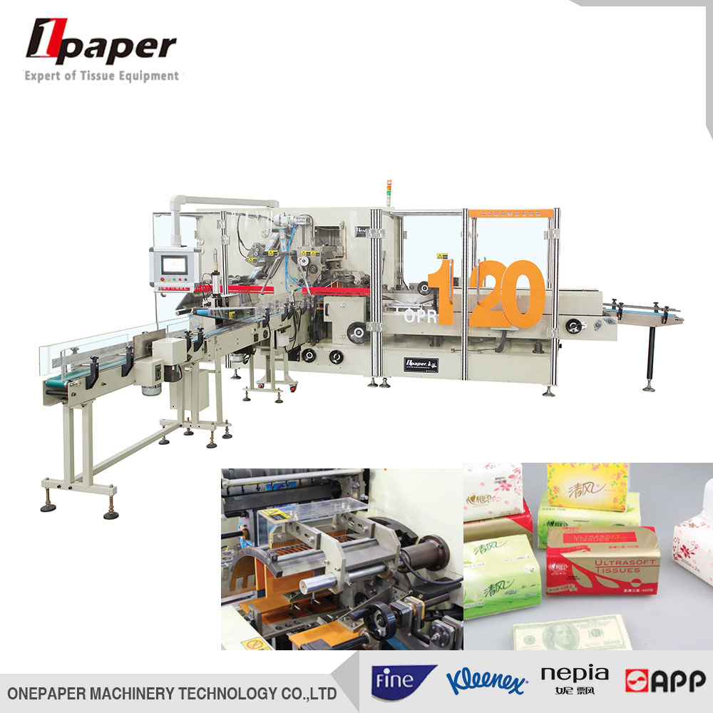 Hot Selling professional facial napkin tissue paper plastic packing machine full automatic paper tow