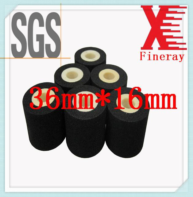 Black XJ 36mm*16mm for plastic used on label/coding machine for EXP/DATE printing hot solid ink roll