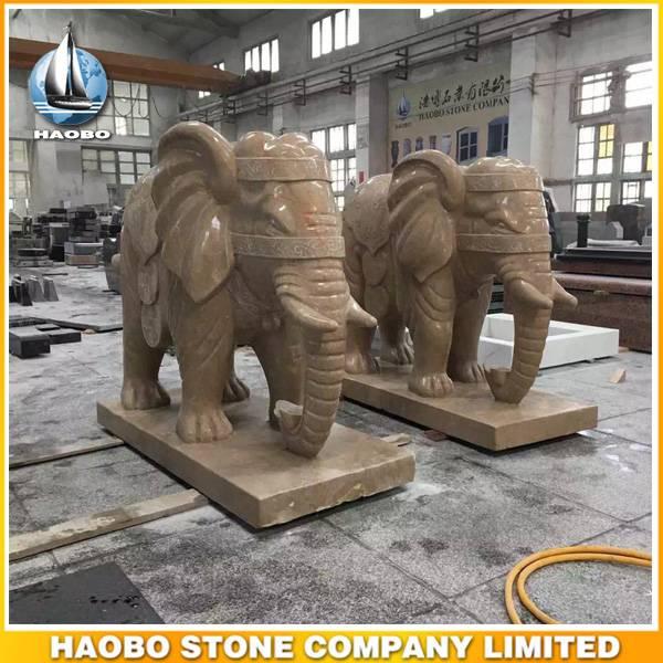 Stone Hand Carved Bangkok Elephant Statue