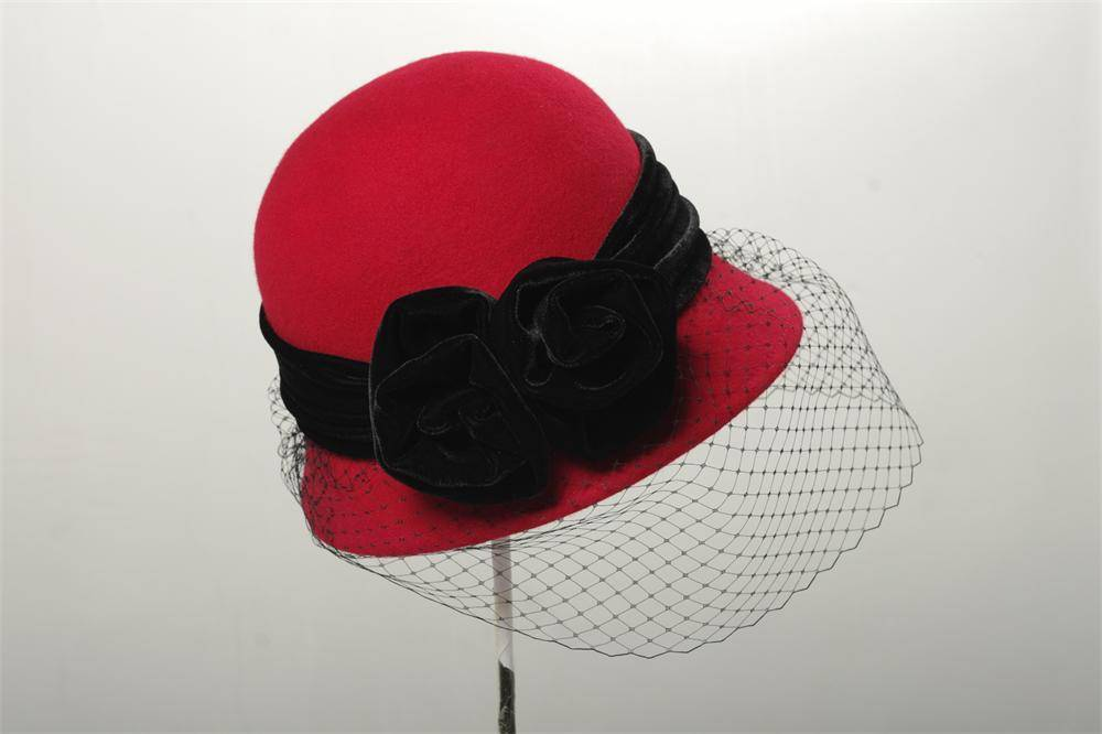 Wool Felt Bucket Hat For Woman (FW014088)