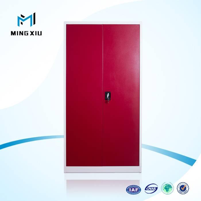 Mingxiu office furniture 2 steel swing door cabinet / two doors metal wardrobe