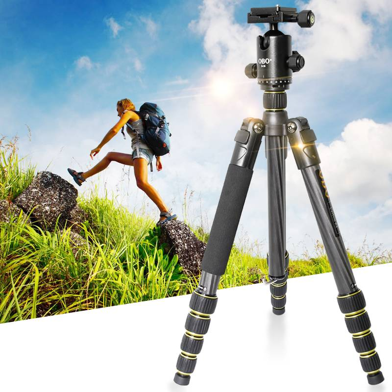 OBO TS360C lightweight professional carbon fiber tripod for camera