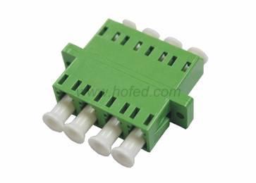 LC Singlemode Quad Plastic Flange Fiber Optic Adapter