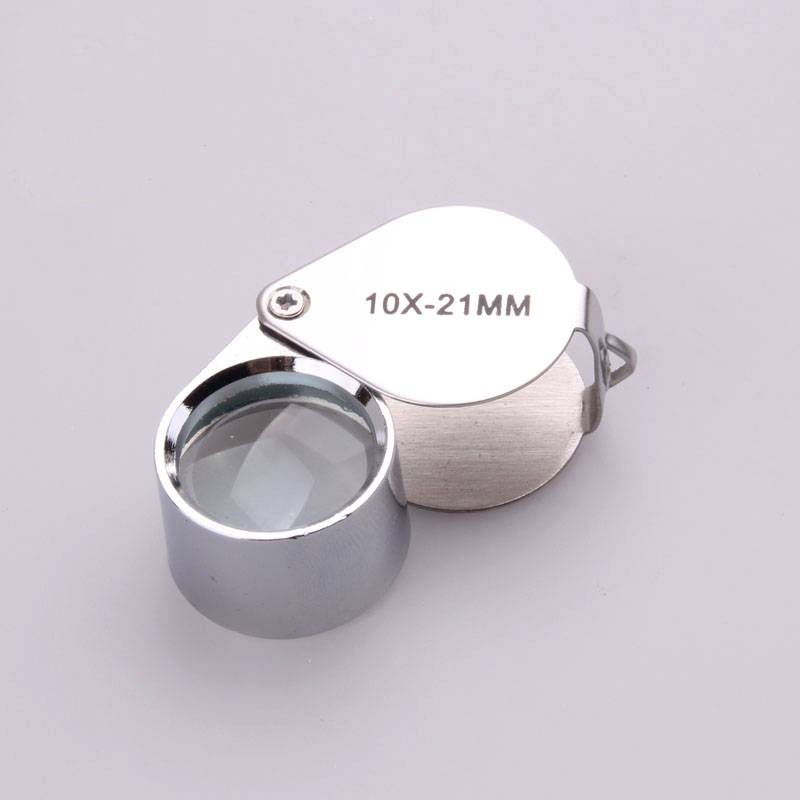 10X Glass Magnifying Magnifier Jeweler Eye Jewelry Loupe Loop for Jewelry Stamps Coins And Antiques
