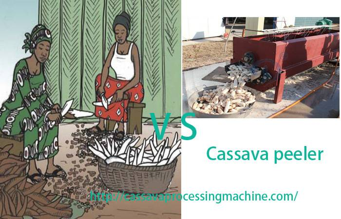 Cassava peeling and cleaning machine