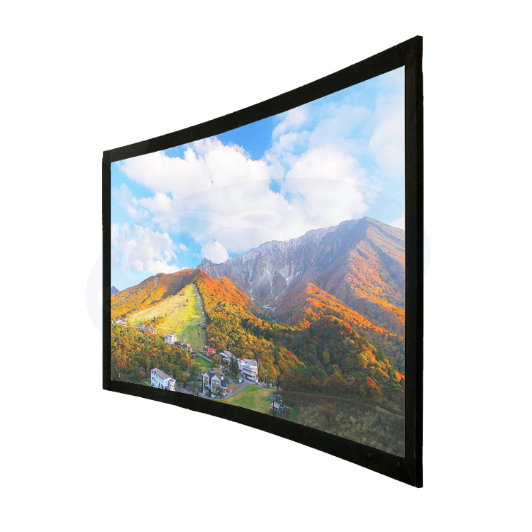 Frame Style and 16:9 Format Curved Projector Screen