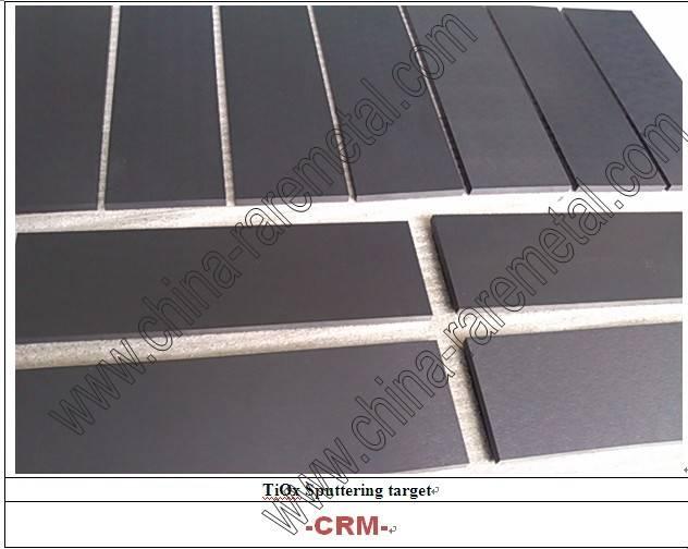 Titanium Oxide Sputtering Targets (TiOx target)(For DC sputter) film-CRM Material Co.,Ltd.