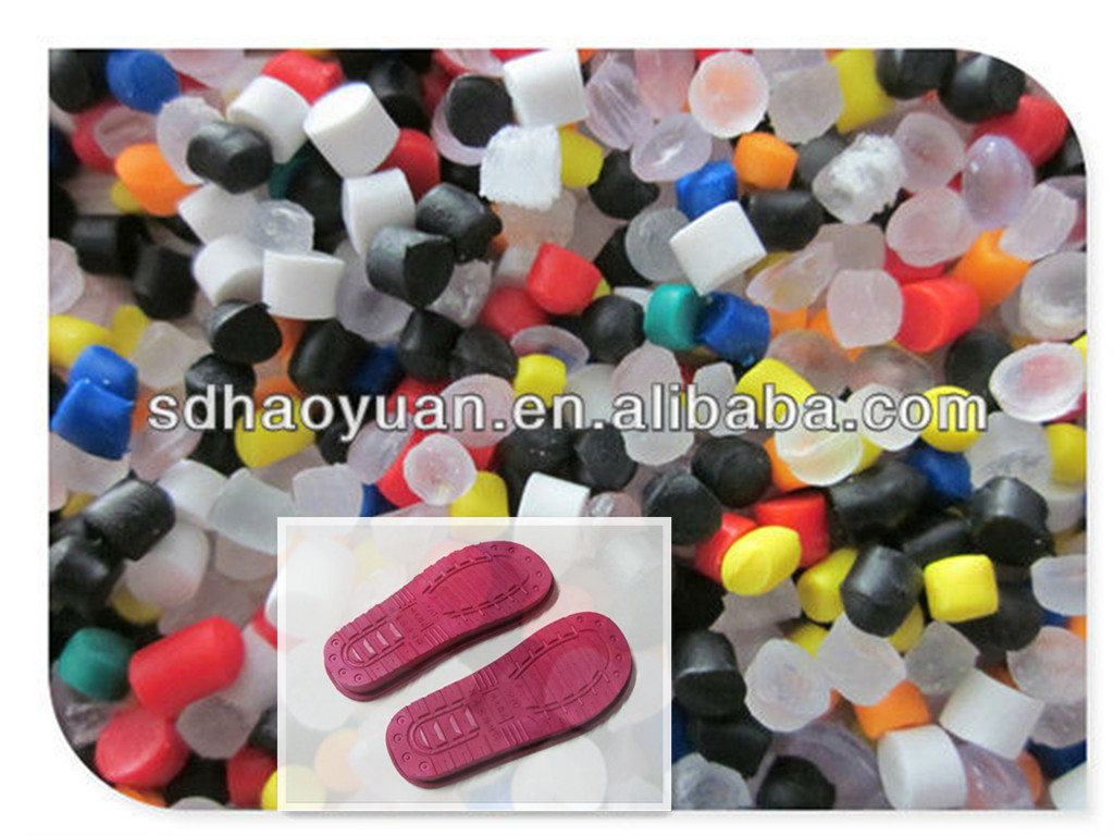 Colorful Virgin PVC Raw Material for Shoes Sole
