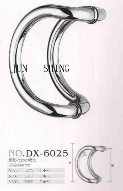 Stainless steel glass door pull handle dx-6025