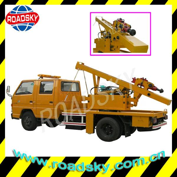 Road Safety Guardrail Pile Driving Equipment