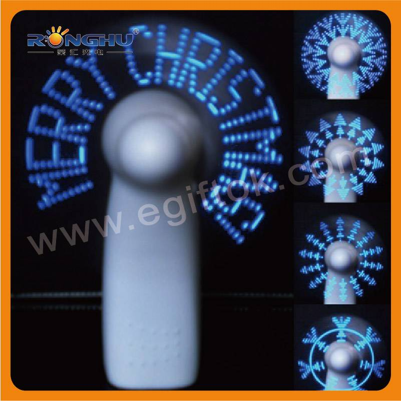 2014 business giveaways Led Advertising Message Fan