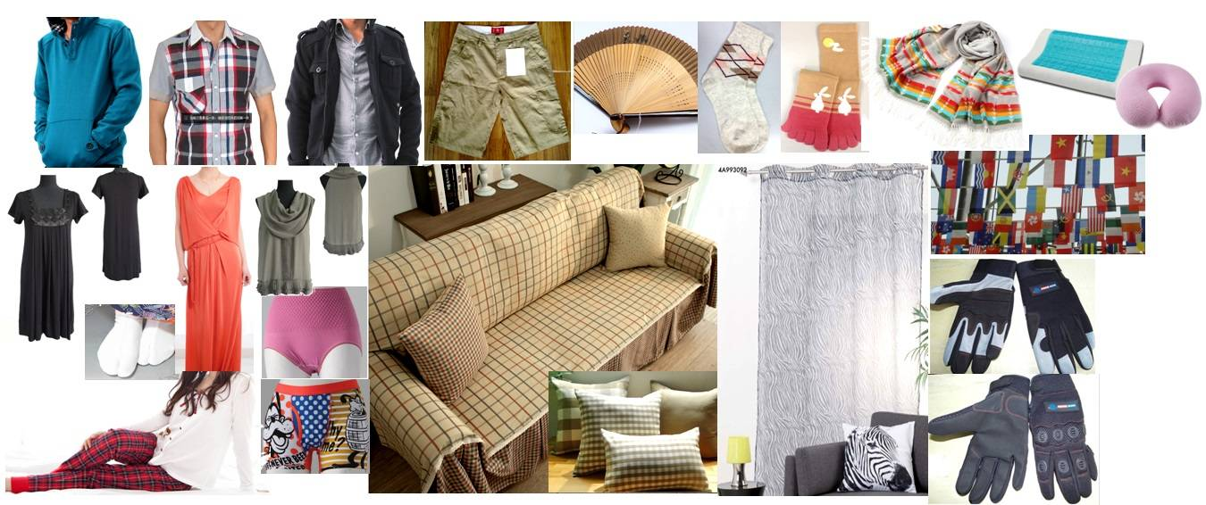 apparel/short/pant/sock/pillow/curtain/scarf/sofacover/cushion/thorw