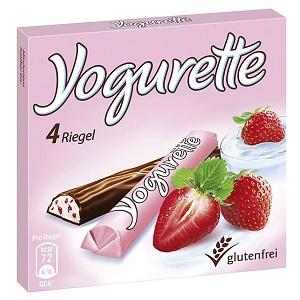 Yogurette T4, 50g. Hanuta T2, 44g. Ferrero Giotto T36, 154,8g.