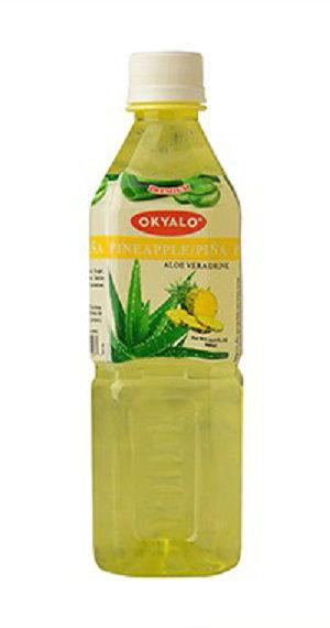Pineapple Aloe Vera Juice with Pulp Okeyfood in 500ml Bottle