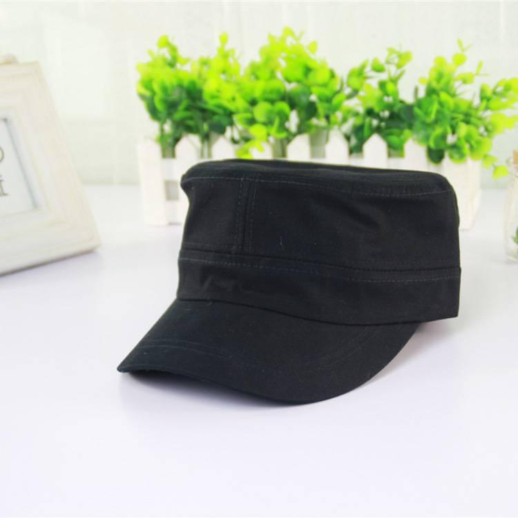 2015 New Black Plain Navy Army Cap Flat Top Cap Custom Military Hat