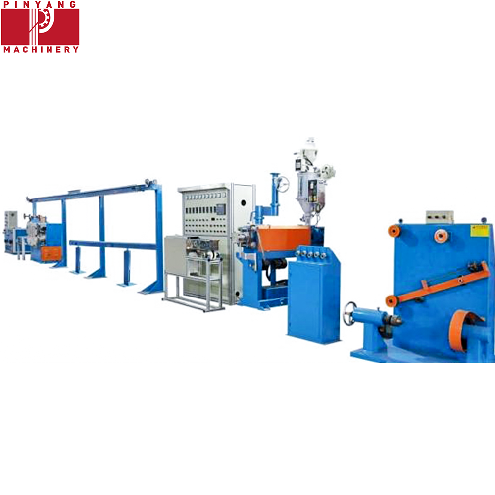 Electrical Wire Pvc And Cable Extruder Machine With Online Laser Diameter Gauge