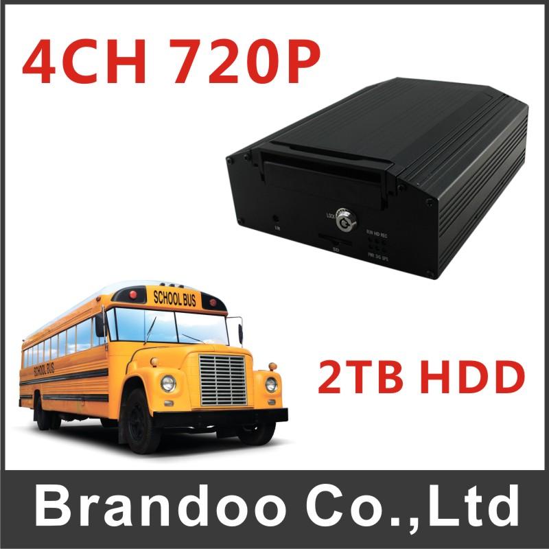 4CH 720P 3G/4G Car DVR Model BD-307