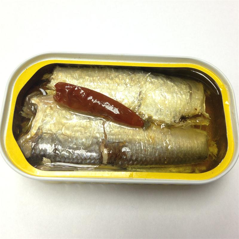 canned morocco mexican sardine in oil(125g/90g),canned fish manufatcurer, cylinder can, halal, haccp