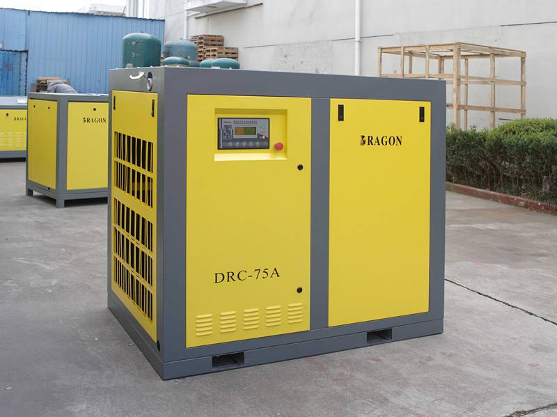 AC stationary Dragon screw air compressor
